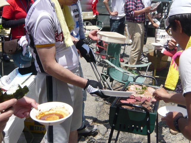 焼き肉(ついでに自転車レース観戦)