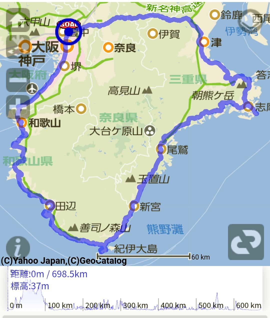 19.04.27~05.01 紀伊半島一周サイクリング