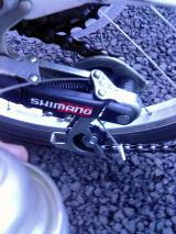 自転車の注油