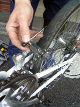 自転車のチェーン交換