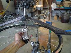 自転車のホイールの組み方
