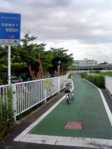 芝川サイクリングロードから都内へ