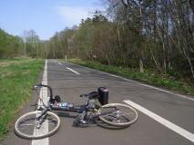 千歳から札幌恵庭自転車道路で札幌へ