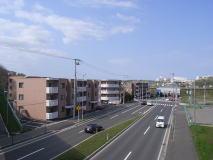 から札幌恵庭自転車道路で札幌 ...